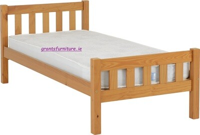 Carlow 3ft (Single) Bed Antique Pine