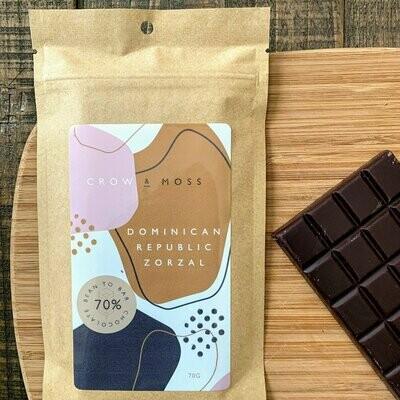 Crow & Moss Dominican Republic Zorzal 70% Single Origin Chocolate Bar