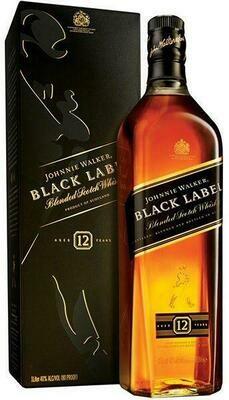 Johnnie Walker Black Label Whiskey 1-Liter
