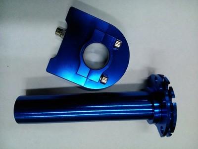 Ручка газа короткоходная синяя