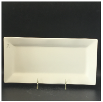 "Curvy Rim Retangle Platter (12""x6"")"