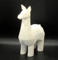 Faceted Llama Figurine