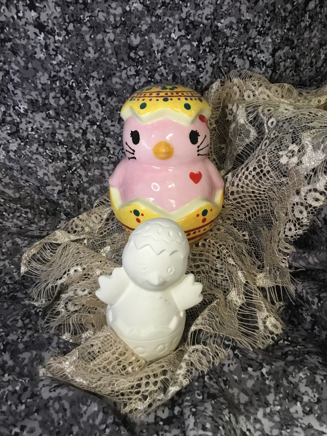 Chick in an Egg Figurine
