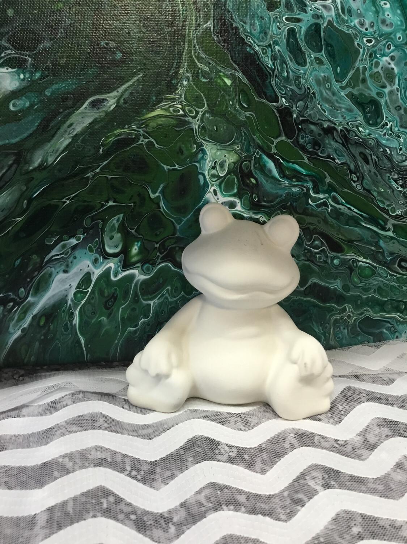 Sitting Frog Figurine