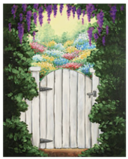 """Zoom Art Class: (Suggested ages 18 and up!) """"Secret Garden"""" July 31st"""