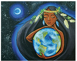 """Zoom Art Class: (Suggested ages 18 and up!) """"Mother Earth"""" July 17th"""