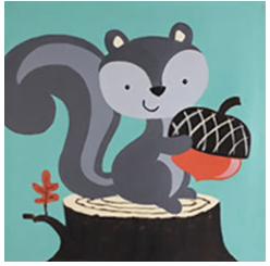 "Zoom Art Class: Kids, Teens, & Everyone In Between ""Grey Squirrel"" July 4th"
