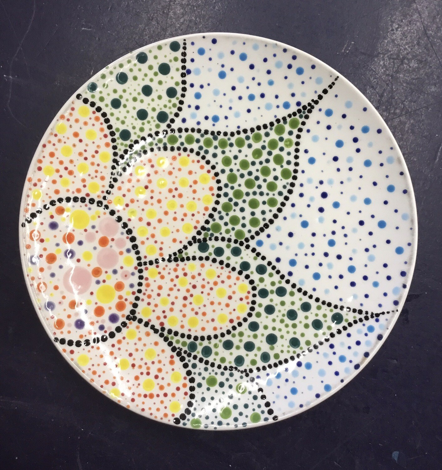 Zoom Art Class: Dot Mandala Coupe Salad Plate- July 21st