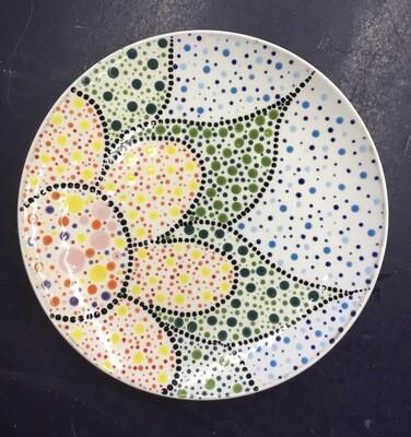 Zoom Art Class: Dot Mandala Coupe Salad Plate- July 21st