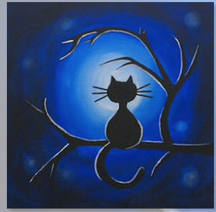 "Zoom Art Class: Kids, Teens, & Everyone In Between ""Light Moon Meow"" July 25th"
