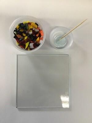 """Glass Fusing 4"""" Tile"""