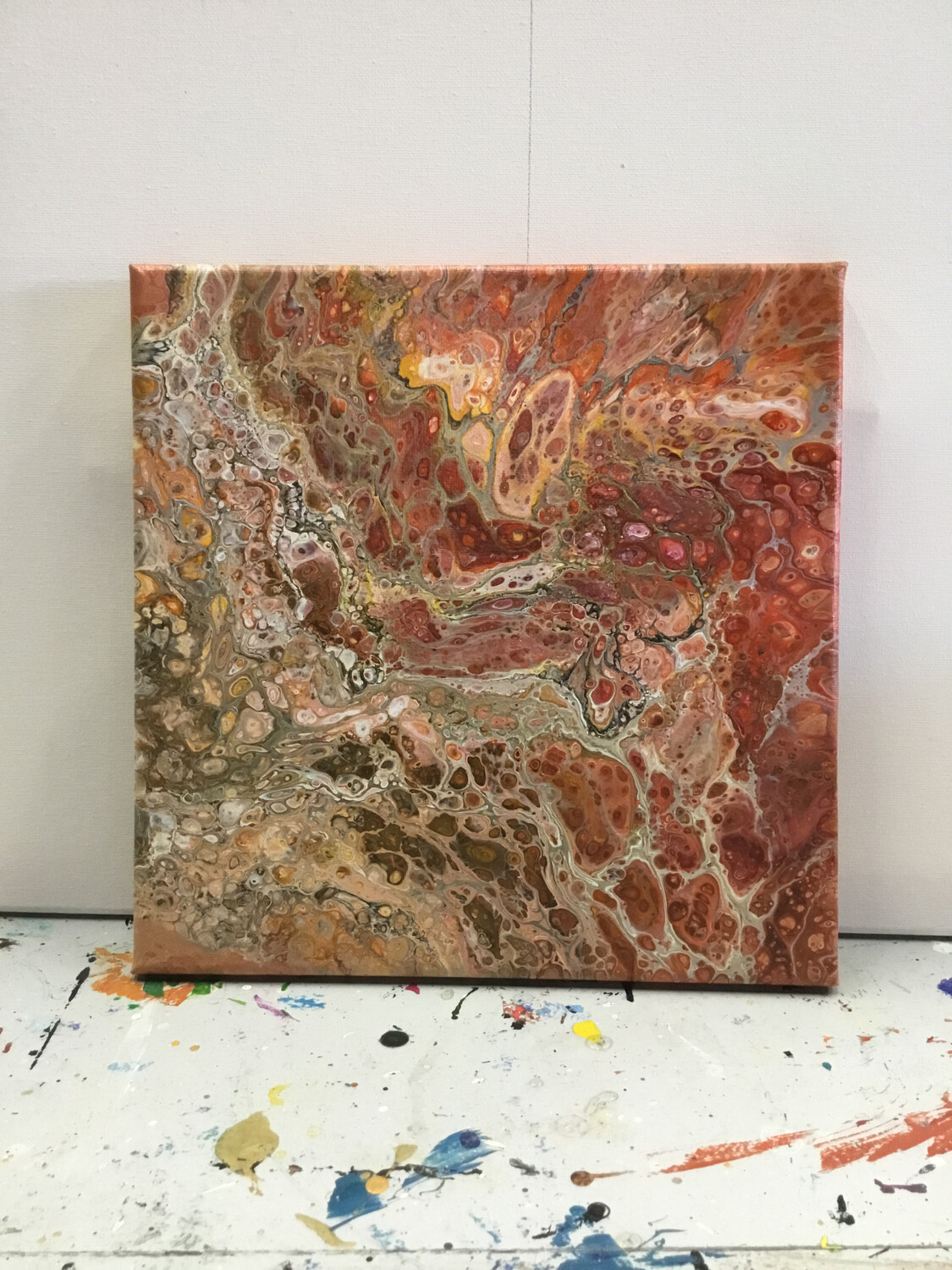 """Zoom Art Class:  """"Acrylic Pour"""" July 9th  (All Ages Welcome)"""