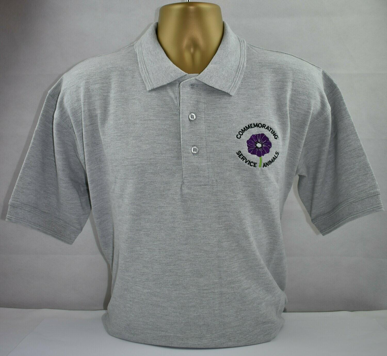Polo Shirt - Purple Poppy  (Grey XXL)