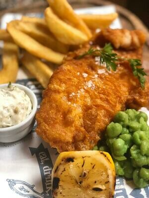 Fish and Chips w. Beer Batter