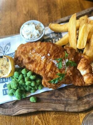 Fish and Chips w. Gluten-Free Batter