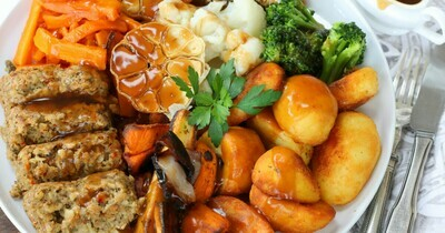 Vegetarian Nut Roast and all the trimmings