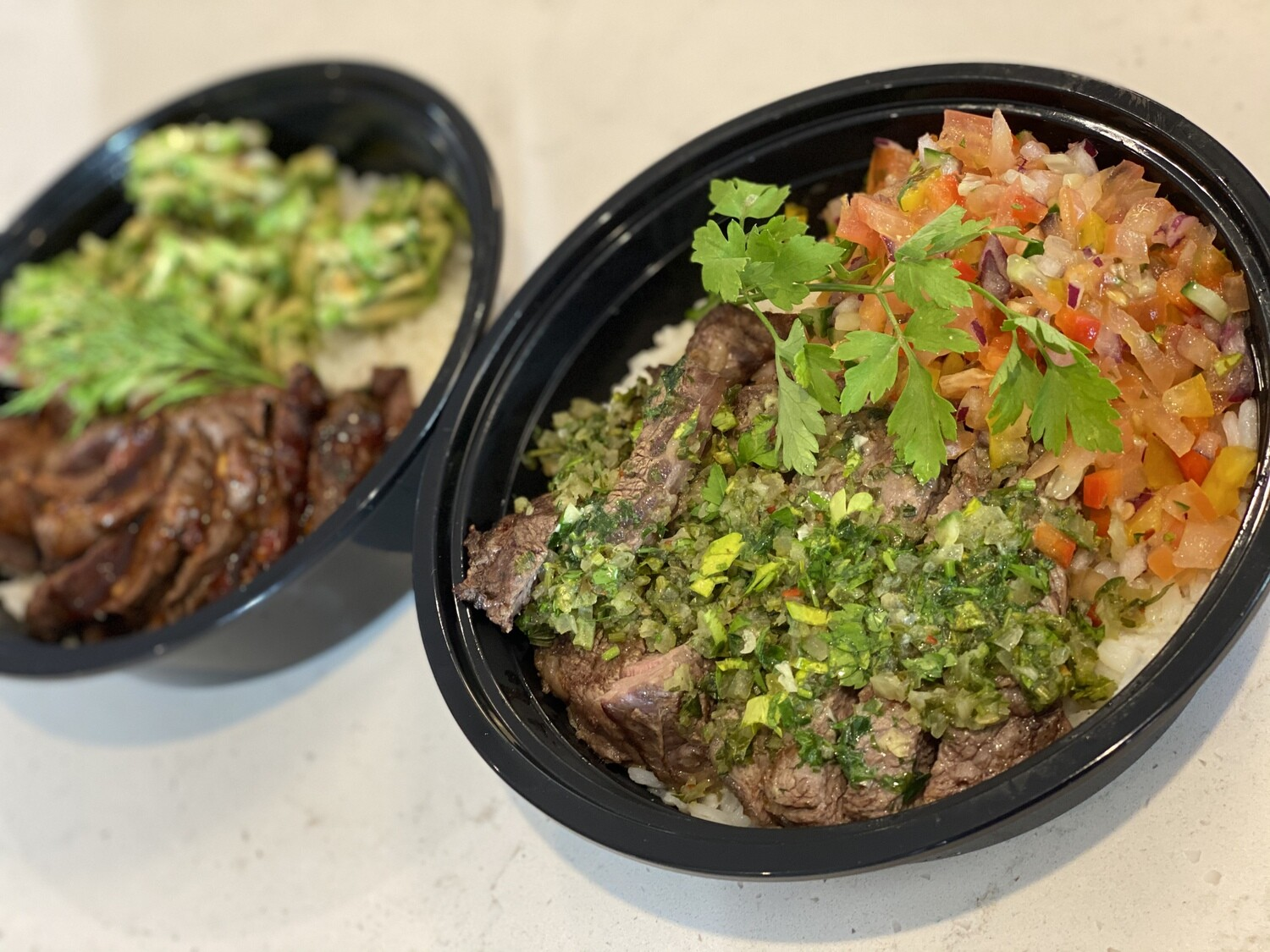 Meal-in-a-Bowl Chimichurri Steak