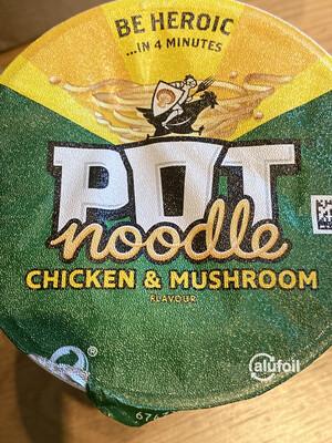 Pot Noodle Chicken & Mushroom 90g Pot