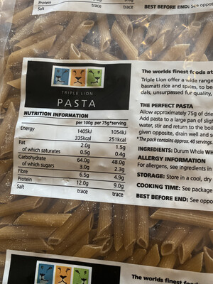 Wholemeal Penne Pasta 500g