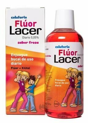 LACER COLUTORIO FLUOR DIARIO 0,05 % FRESA 500 ML