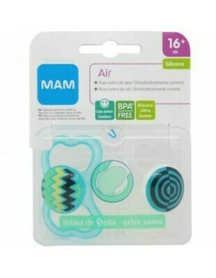 CHUPETE SILICONA MAM AIR PACK DOBLE