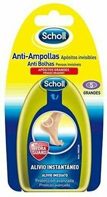 SCHOLL ANTI-AMPOLLAS APOSITOS INVISIBLES GRANDES 5 U