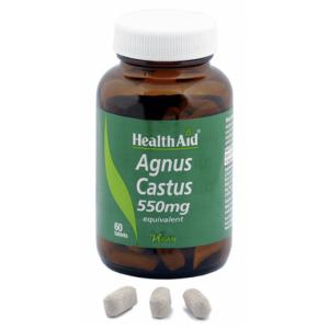 HEALTH AID AGNUS CASTUS 550MG.60 TABLETAS