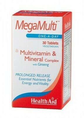 HEALTH AID MEGA MULTIS GINSENG 30 COMP