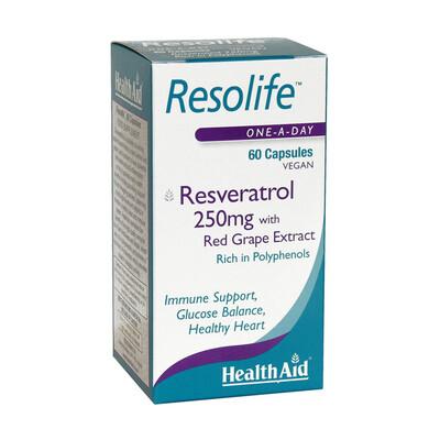HEALTH AID RESOLIFE 250 MG RESVERATROL 60C