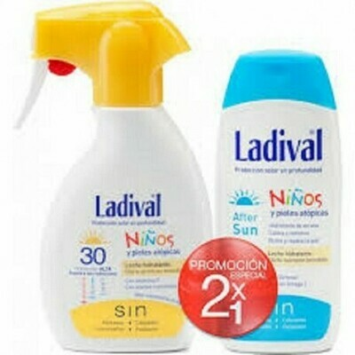 LADIVAL NIÑOS FOTOPROTECTOR FPS 30 SPRAY FOTOPRO PACK DUPLO 200 ML  200 ML