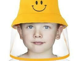Children's Fabric Bucket Hat with Soft PVC Shield