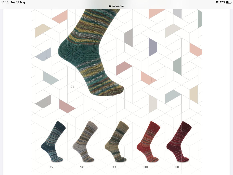 Katia Jacquard Symmetric Sock Yarn