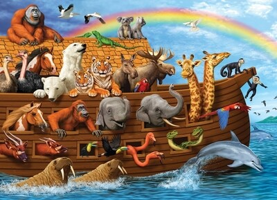 Voyage of the Ark Family Pieces - 350 piece Cobble Hill Puzzle