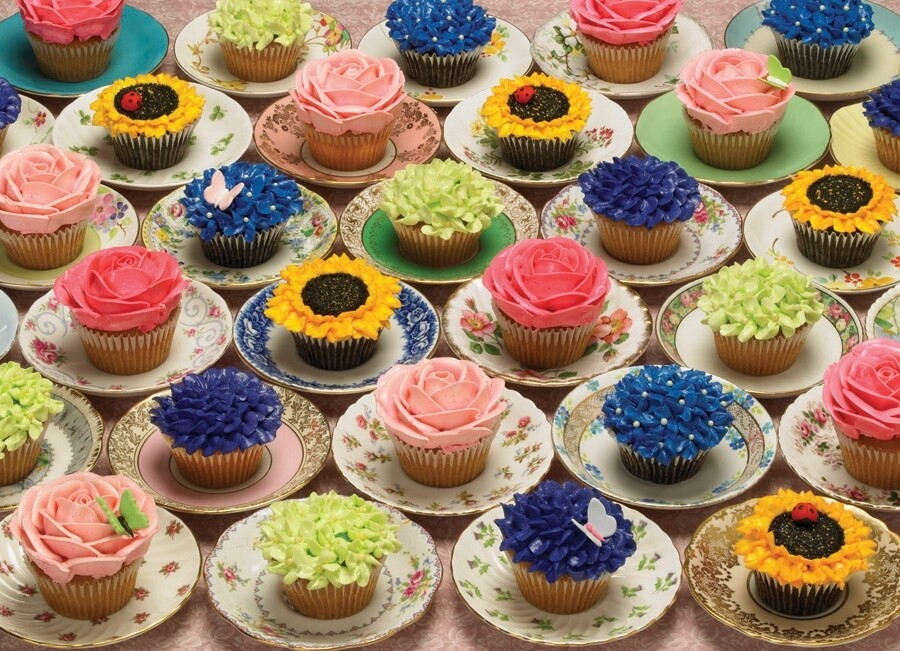 Cupcakes And Saucers - 1000 Piece Cobble Hill Puzzle
