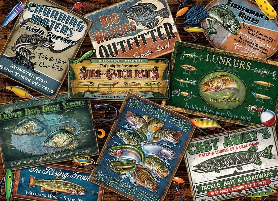 Fish Signs - 1000 Piece Cobble Hill Puzzle