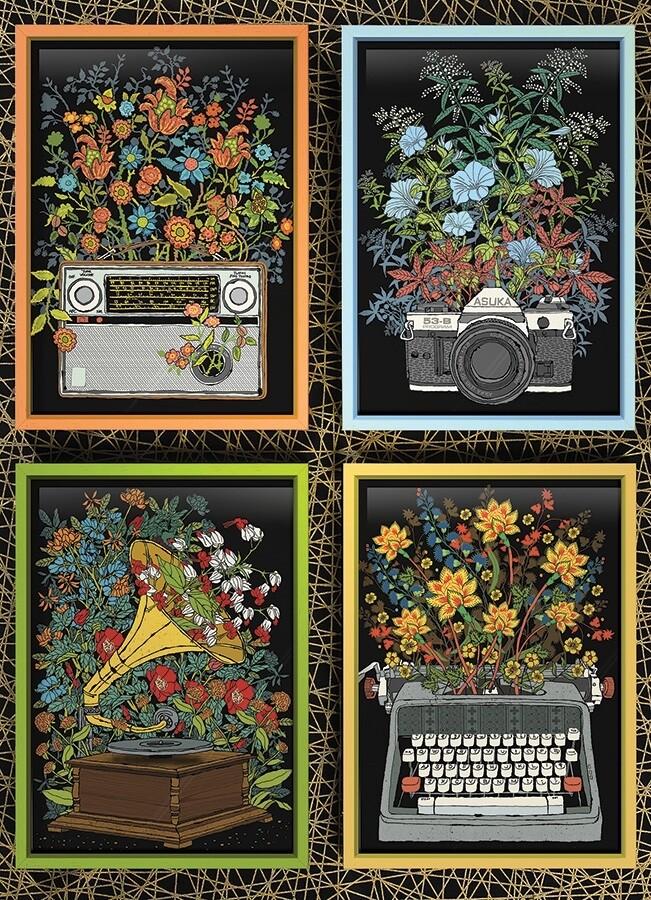 Floral Objects - 1000 Piece Cobble Hill Puzzle