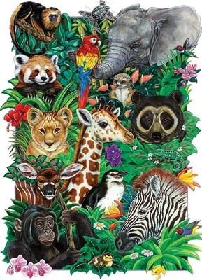 Safari Babies Family Pieces - 350 piece Puzzle Cobble Hill Puzzle