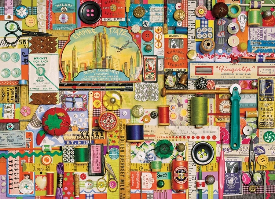 Sewing Notions - 1000 Piece Cobble Hill Puzzle