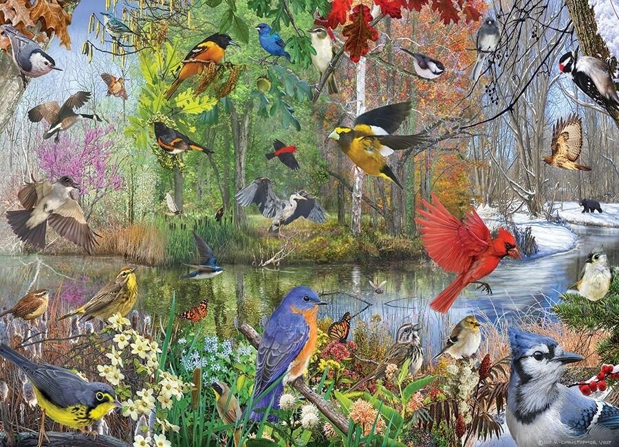 Birds of the Season - 1000 Piece Cobble Hill Puzzle