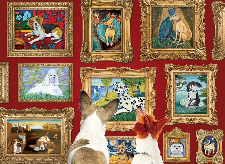 Dog Gallery  - 1000 Piece Cobble Hill Puzzle