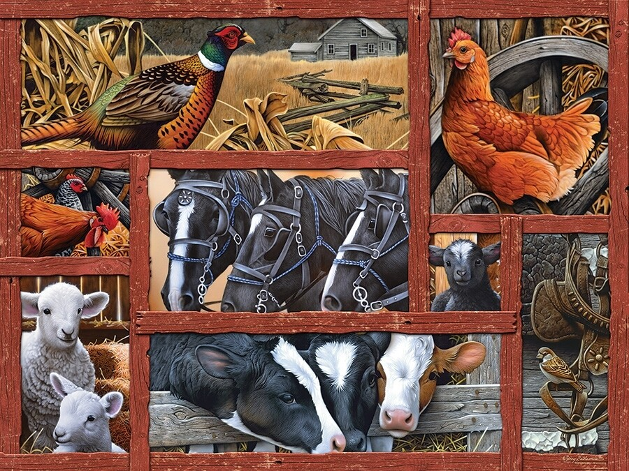 Farmyard Friends Easy Handling - 275 piece Cobble Hill Puzzle