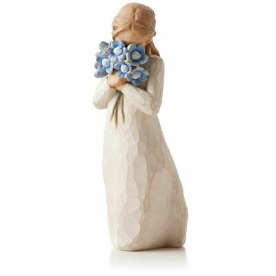 Forget me not - Girl holding blue flowers