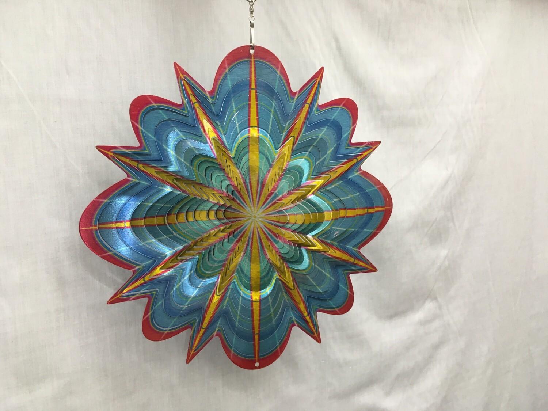 Arctic Splash Mandala Large - Wind Spinner