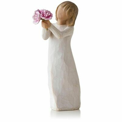 Thank you - Girl holding Pink Flowers