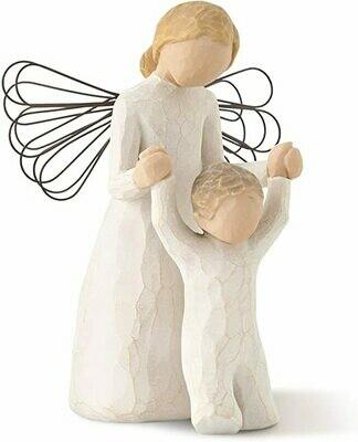 Guardian Angel - Angel helping child walk  - Wire Wings