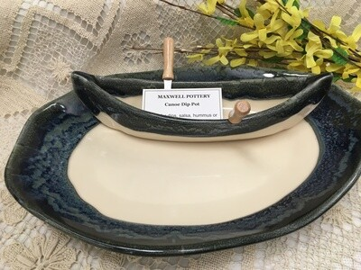 Canoe on a Lake Dip Set - Granite - Maxwell Pottery - Canadian Handmade