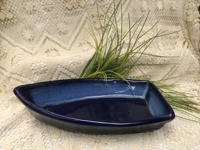 Boat Baker Northern Lights Blue - Maxwell Pottery - Handcrafted Canadian