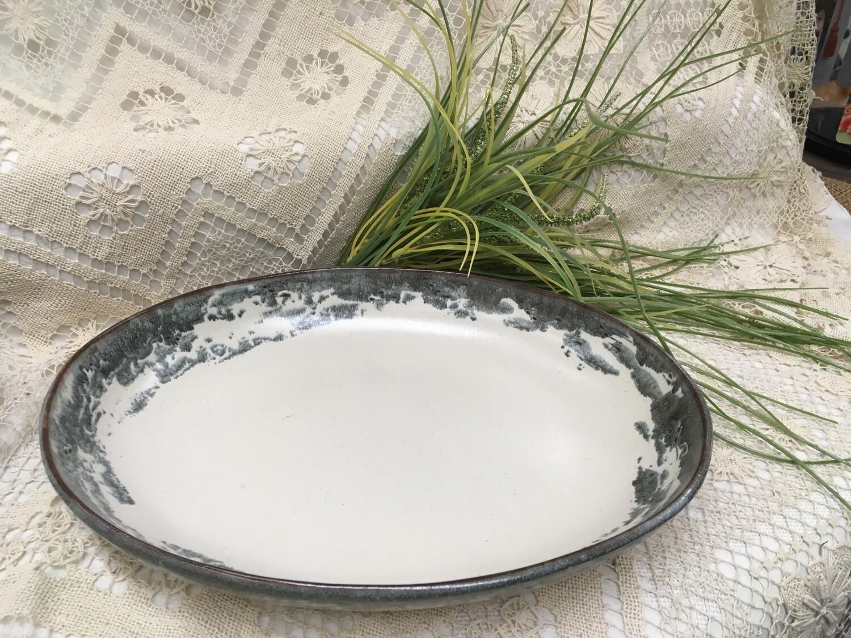 Oval Tray Medium, Birch Bark - Pavlo Pottery - Canadian Handmade