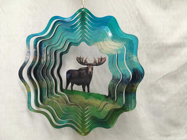 Moose Large - Cut Out Design Wind Spinner