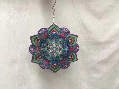 Lotus Mandala Purple/Pink Small  - Wind Spinner